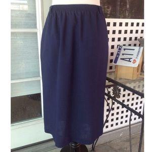 Vintage Alfred Dunner Navy high rise midi skirt